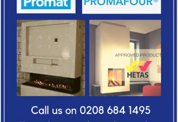 Promafour, Promat, Stockists, Heat Proof Board, Fire board, Hetas, Building Regulations Part J