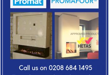 Promafour, Promat, Stockists, Heat Proof Board, Fire board, Hetas, Building Regulations Part J